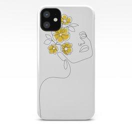 Mustard Bloom Girl iPhone Case