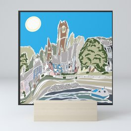 Aberaeron fishing village wales by day Mini Art Print