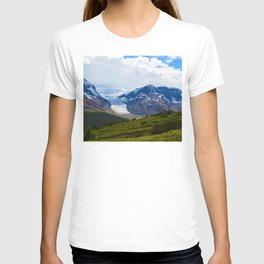 View along the Wilcox Pass Hike in Jasper National Park, Canada T-shirt