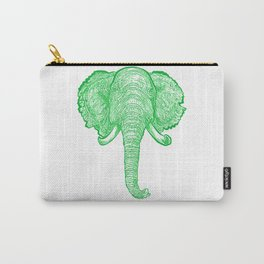 Green Elephant Illustration Carry-All Pouch