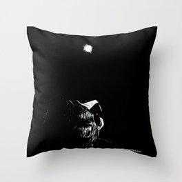 Full Moon Black and White Throw Pillow