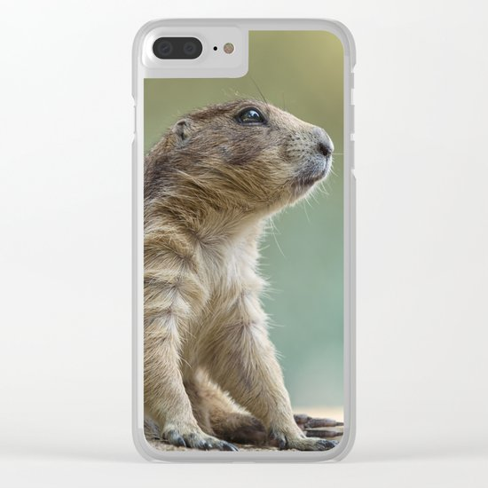 Praire dog sitting in the sun Clear iPhone Case