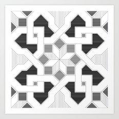 Oriental Pattern - Geometric Design - lines Art Print