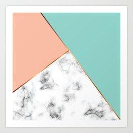 Marble Geometry 056 Art Print
