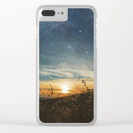 As the Sun fades away, the Stars come out to play Clear iPhone Case