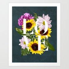 Love in Flowers Art Print