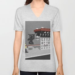 BruceLee Commodore 64 game tribute Unisex V-Neck