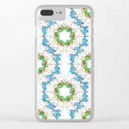 Transformation Nature Star Mandala Clear iPhone Case