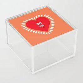 love you Acrylic Box
