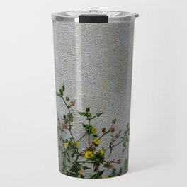 Minimal flora - yellow daisies wild flowers Travel Mug