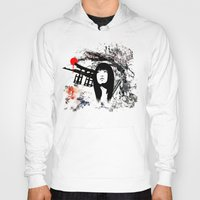 subaru Hoodies featuring Japanese Geisha Warrior by viva la revolucion