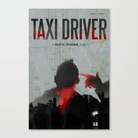 taxi driver Canvas Prints featuring Taxi Driver by FCRUZ