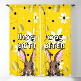 Happy Easter Golden Eggs Blackout Curtain