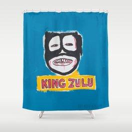 King Zulu Homage to Basquiat Shower Curtain