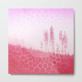 Bubblegum Boho Trees Metal Print