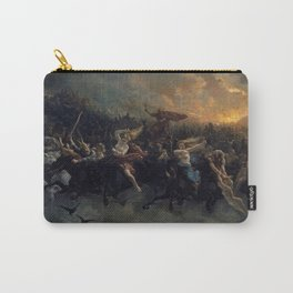 Peter Nicolai Arbo The Wild Hunt Of Odin Restored Carry-All Pouch