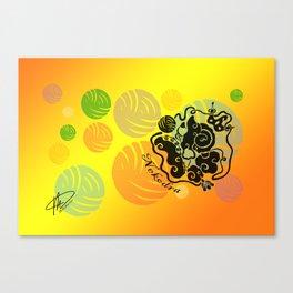 Rainbow Yarn Logo (Fiery Bg) Canvas Print