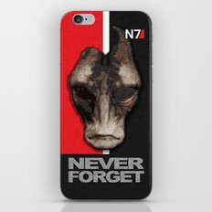 NEVER FORGET - Mordin Solus- Mass Effect iPhone & iPod Skin