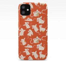 Happy mice pattern iPhone Case