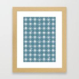 The Nik-Nak Bros. Night Bleu Framed Art Print