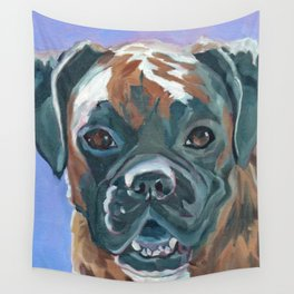 Boone the Boxer Dog Portrait Wall Tapestry