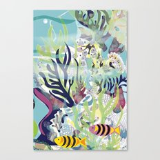 Aquatic with fish Canvas Print