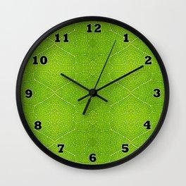 Leaf Macro Wall Clock