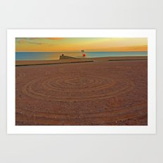 Circles in the sand Art Print