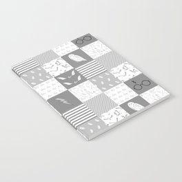 Magic Private School cheater quilt patchwork wizarding witches and wizards Notebook
