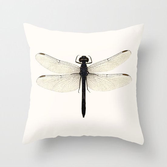 dragonfly #5 Throw Pillow by Okti Society6
