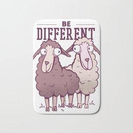 Be different - Sheep Bath Mat