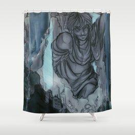 Waterfall Village Shower Curtain