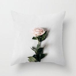 Minimalist Rose Throw Pillow