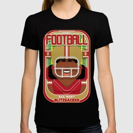 American Football Red and Gold - Hail-Mary Blitzsacker - Aretha version T-shirt