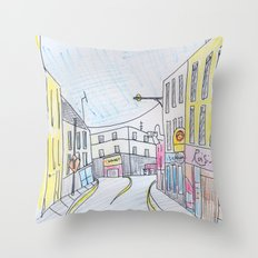 Galway's West end. Throw Pillow