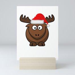 El Alce de Navidad desea una Feliz Navidad y muchos regalos Mini Art Print