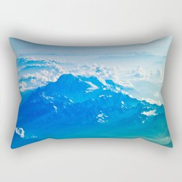 Blue Sky Mountain Rectangular Pillow