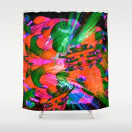 Worm Tumor Colony (Infected) Shower Curtain