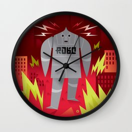 Robo! Destroy! Wall Clock