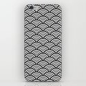 Black White Mermaid Scales Minimalist by beautifulhomes