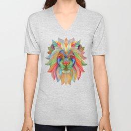 Rainbow Lion Unisex V-Neck