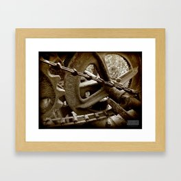 Get Into Gear... Framed Art Print