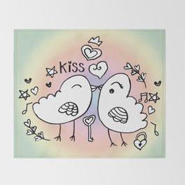 Love Doodles Throw Blanket