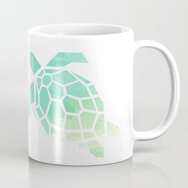green sea turtle, watercolor, geometric & minimalism Coffee Mug