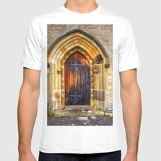 St Andrews Church, Aysgarth MEDIUM White Mens Fitted Tee
