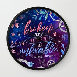 Broken isn't the same Wall Clock