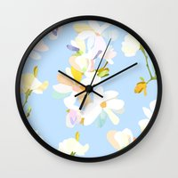 magnolia Wall Clocks featuring Magnolia by 301F