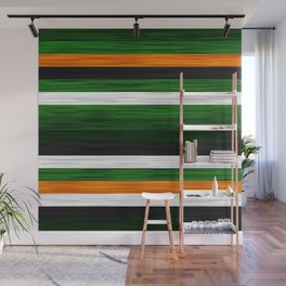 Orange and Green Patchwork 2 Wall Mural