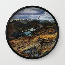 View from Torc Mountain, Killarney National Park, Ireland Wall Clock