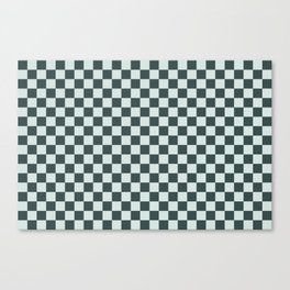 Checkerboard Pattern Inspired By Night Watch PPG1145-7 & Cave Pearl PPG1145-3 Canvas Print